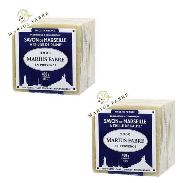 MARIUS FABRE法鉑棕櫚油經典馬賽皂(400g)x 2