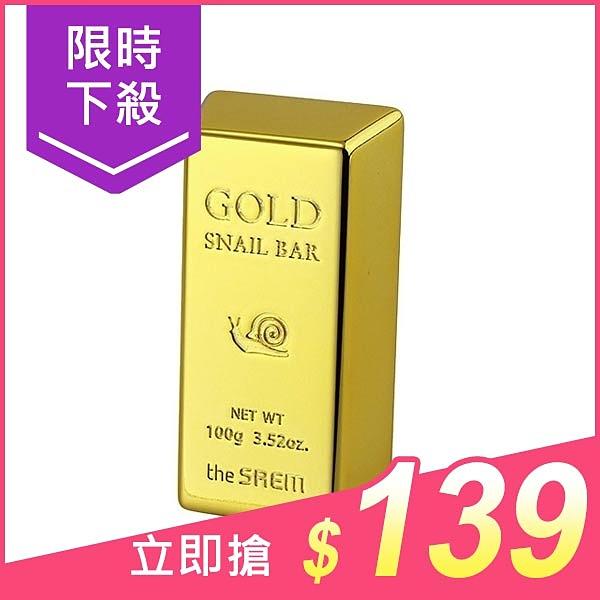 韓國The saem 黃金蝸牛洗面皂(100g)【小三美日】$159