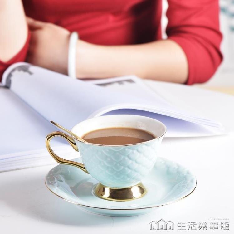 歐式新款杯碟套裝小奢華下午茶具陶瓷英式花茶杯辦公室咖啡杯帶勺NMS