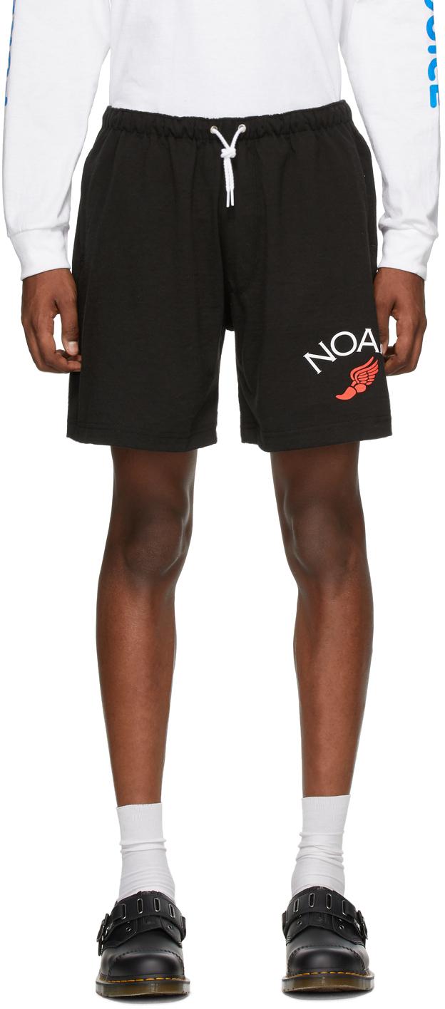 Noah NYC 黑色平纹针织短裤