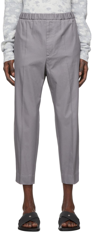 Jil Sander 灰色华达呢长裤