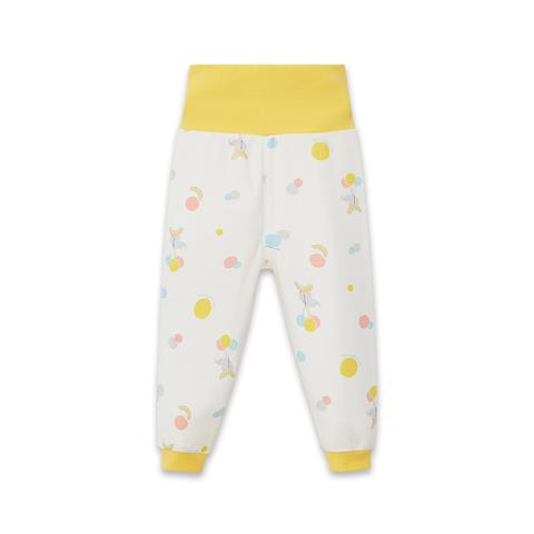 【Cloudy雲柔系列】麗嬰房 嬰兒家居小象印花護肚褲-白色 (73cm~86cm)