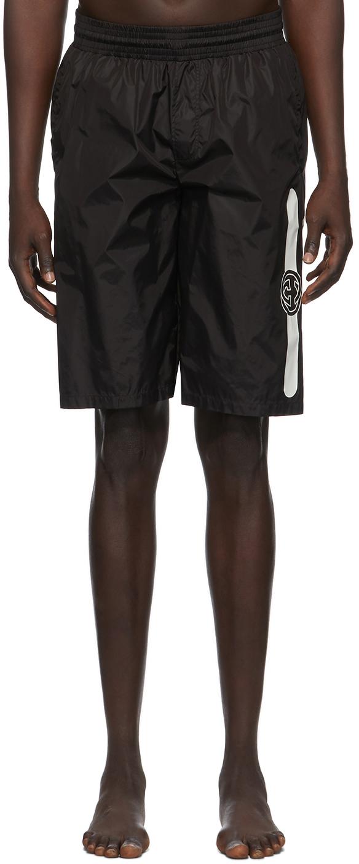 Gucci 黑色徽标泳裤