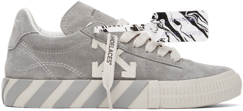 Off-White 灰色硫化运动鞋