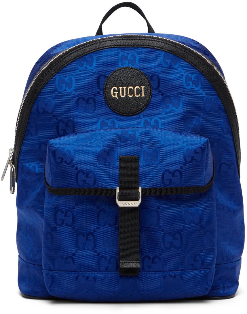 Gucci 蓝色 Off The Grid 系列 GG Eco 双肩包
