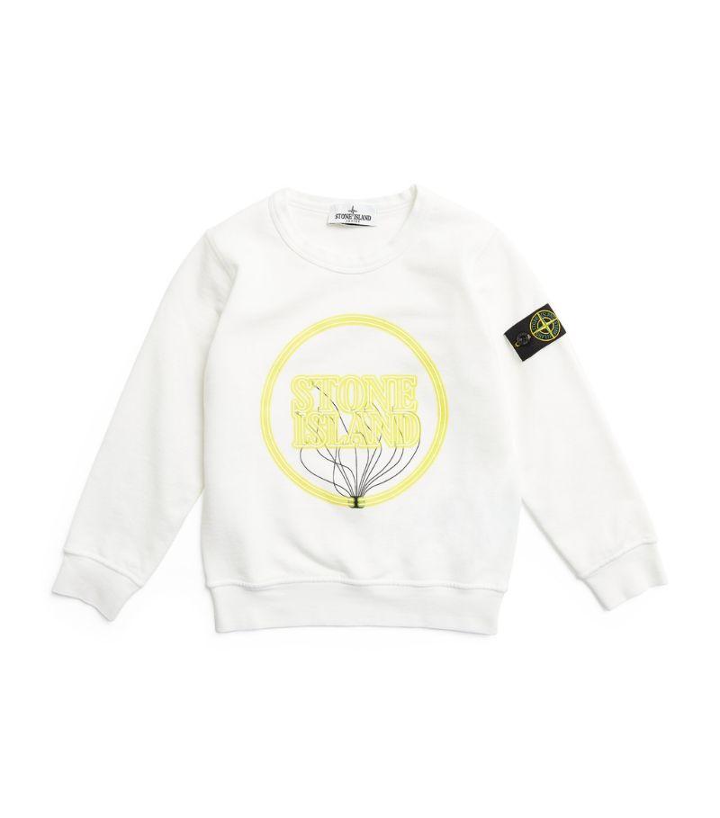 Stone Island Junior Glow-In-The-Dark Logo Sweatshirt (4-14 Years)