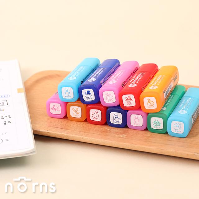 日本Pilot Frixion stamp可擦式印章 Moomin家族- Norns 嚕嚕米 小不點 魔擦擦印 百樂印章 日本進口 事務文具
