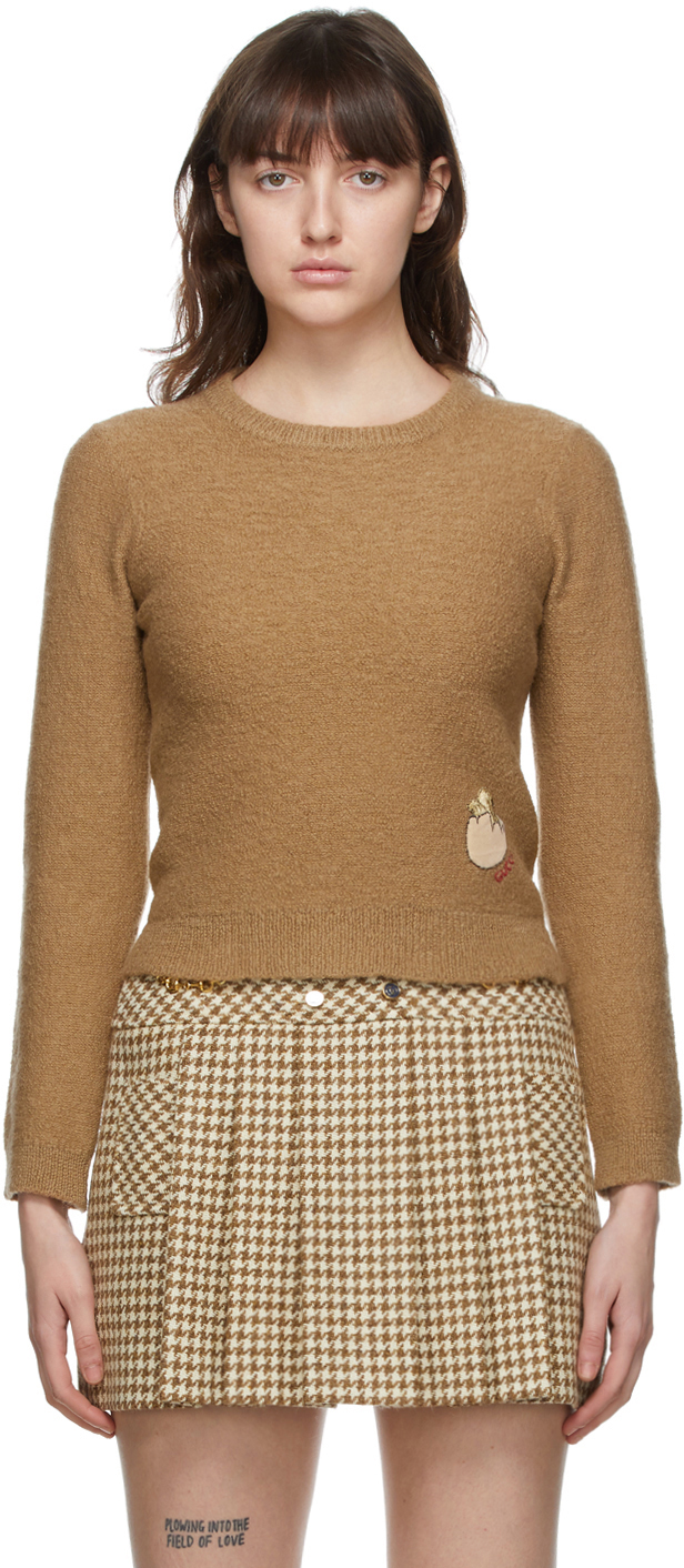 Gucci 黄褐色 Mix 羊毛毛衣