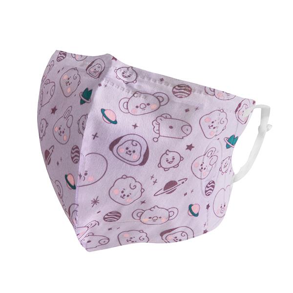 BT21系列3D立體口罩5入-寶寶紫M 【康是美】