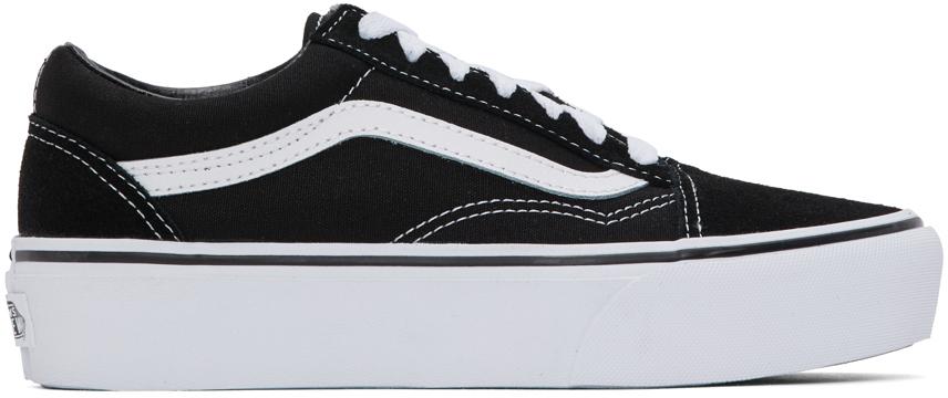 Vans 黑色 Old Skool 厚底运动鞋
