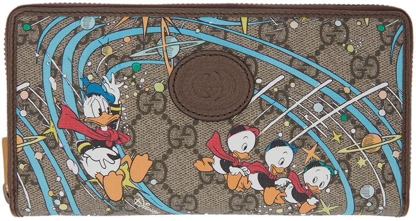 Gucci 多色 Disney 联名 Donald Duck GG Supreme Rocket 欧陆钱包