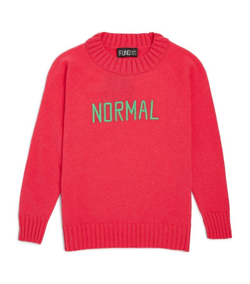Fund Kids Wool Normal Slogan Sweater (3-14 Years)