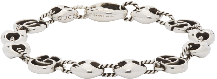 Gucci 银色 Double G Marmont 手链