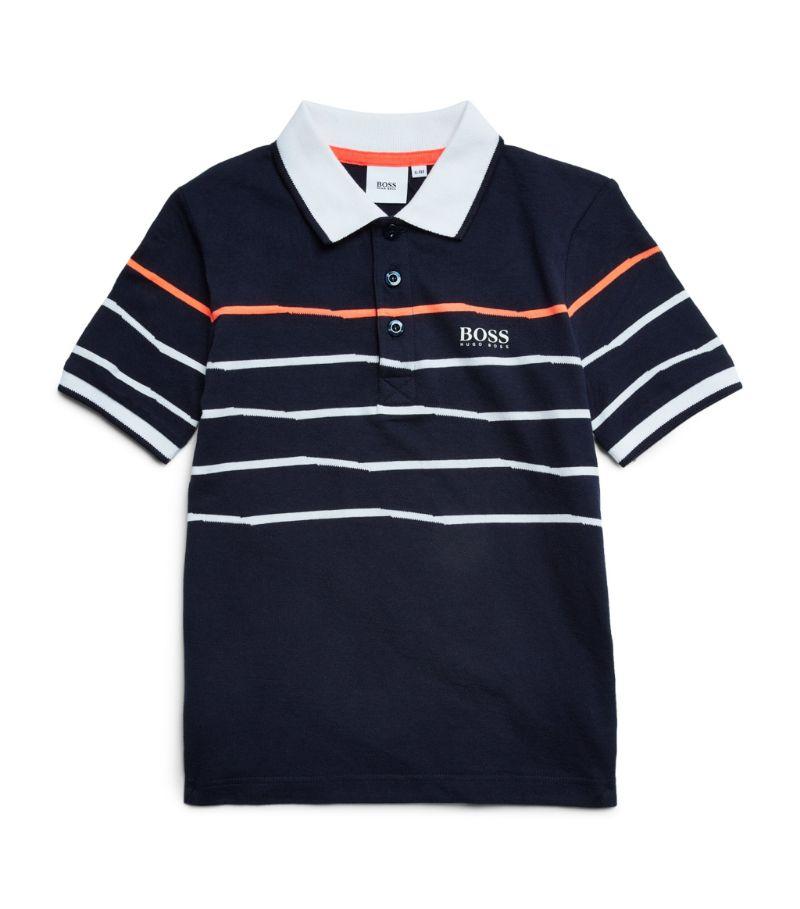 Boss Kidswear Striped Logo Polo Shirt (4-16 Years)