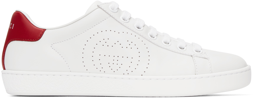 Gucci 白色 Ace Interlocking G 运动鞋