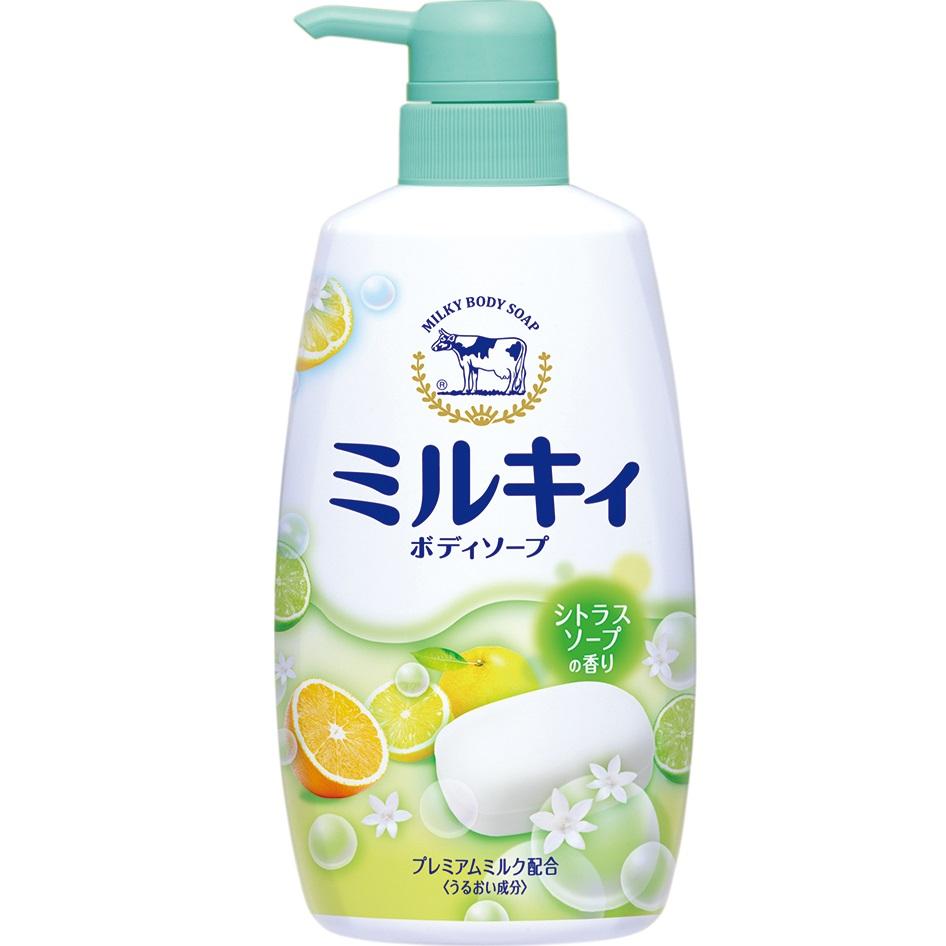 牛乳石鹼 牛乳精華沐浴乳(柚子果香)【康是美】
