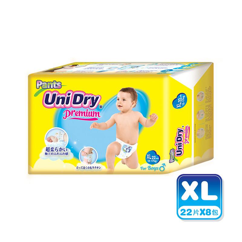 unidry優力褲 嬰兒褲型紙尿褲(男孩)-xl176片(22片x8包)/箱購