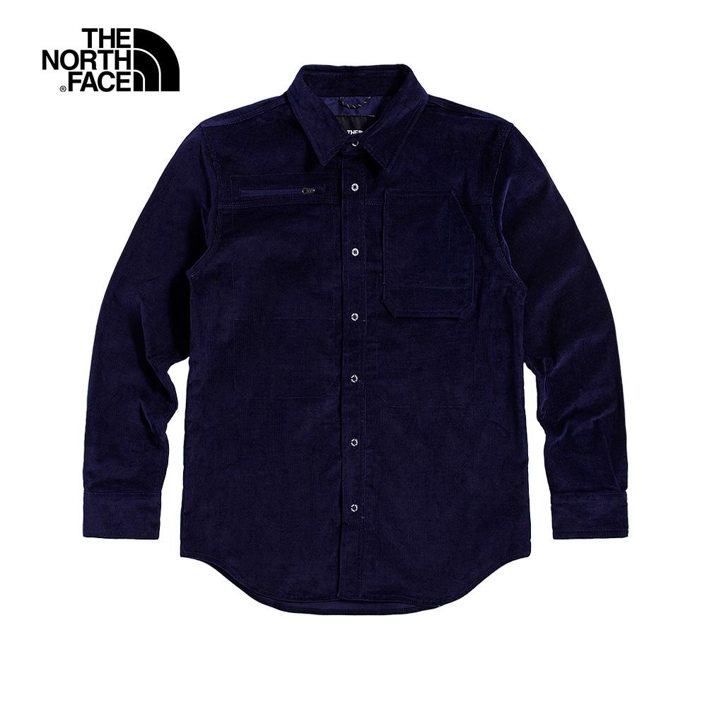The North Face北面UE男款深藍色防風休閒長袖襯衫|4UD5L4U
