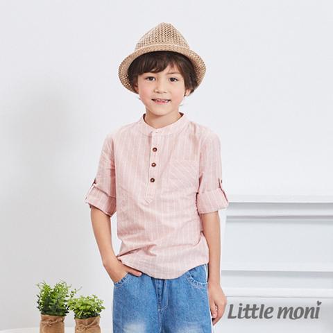 Little moni 條紋襯衫(粉紅)