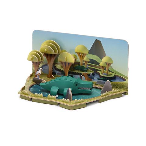 HALFTOYS哈福玩具 3D動物樂園:CROCODILE 鱷魚 STEAM教育玩具