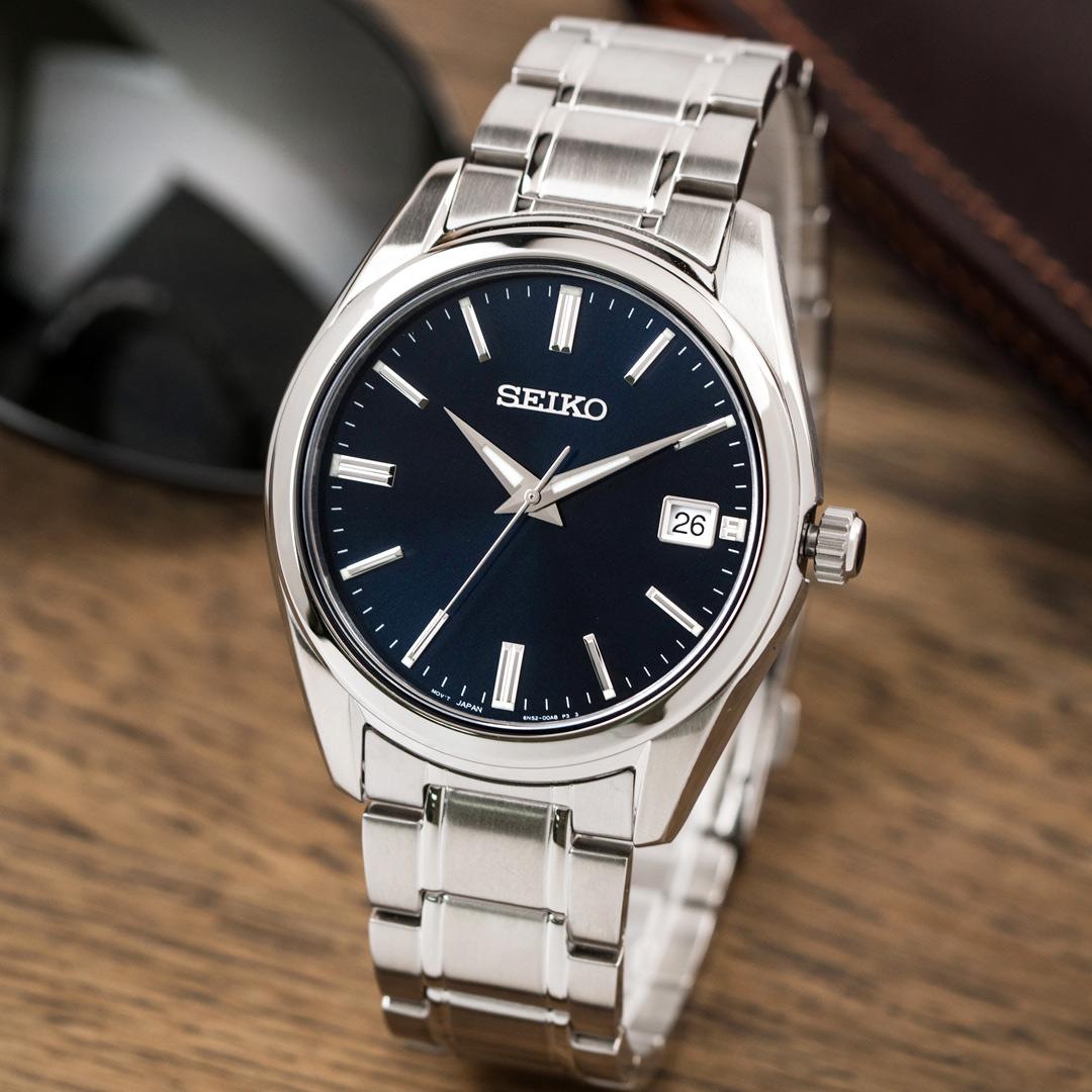 【領券再折2%+滿額贈】SEIKO 精工錶 CS系列 極簡紳士大三針不鏽鋼腕錶/銀x藍面 男錶 SUR309P1_M 世界第一日本精工 熱賣中!