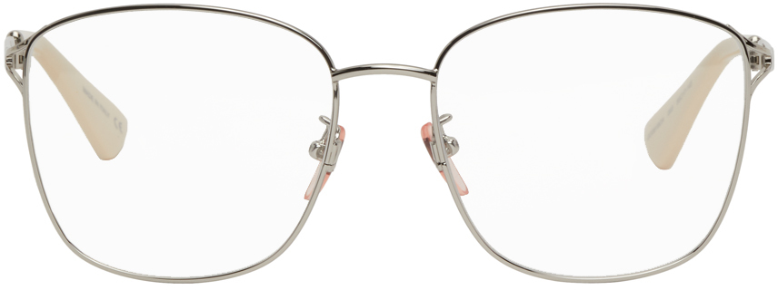 Gucci 银色 Large 方框眼镜