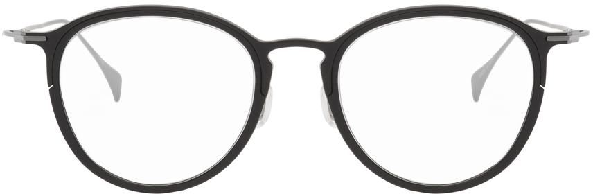 Yohji Yamamoto 黑色 & 银色圆框眼镜