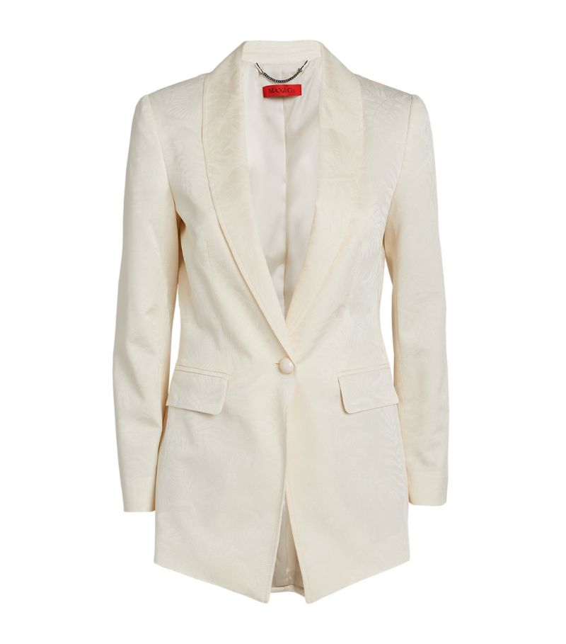 Max & Co. Satin Jacquard Single-Breasted Blazer