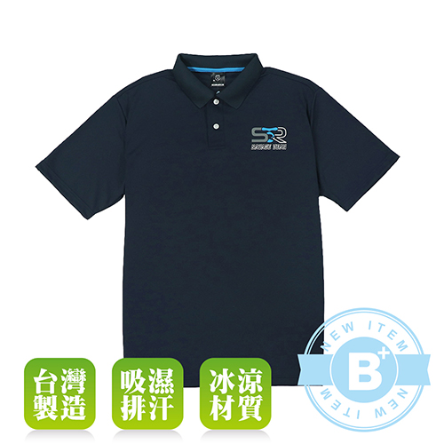大尺碼-SIND-B60669-排汗POLO衫-丈青