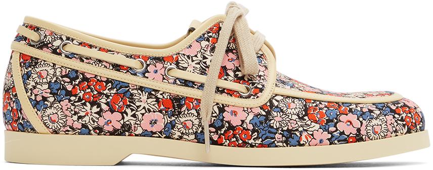 Gucci 多色 Liberty London 联名 Floral 帆船鞋