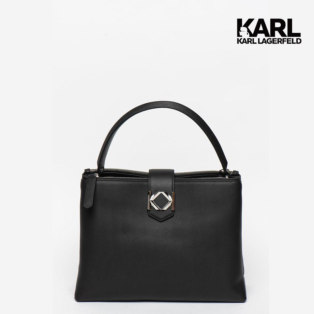 【KARL LAGERFELD】MISS K真皮兩用包-中 (原廠公司貨)