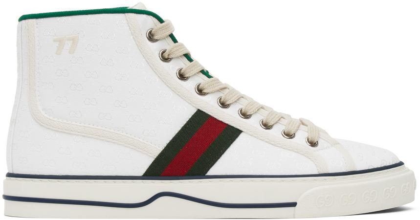 Gucci 白色 Gucci Tennis 1977 高帮运动鞋