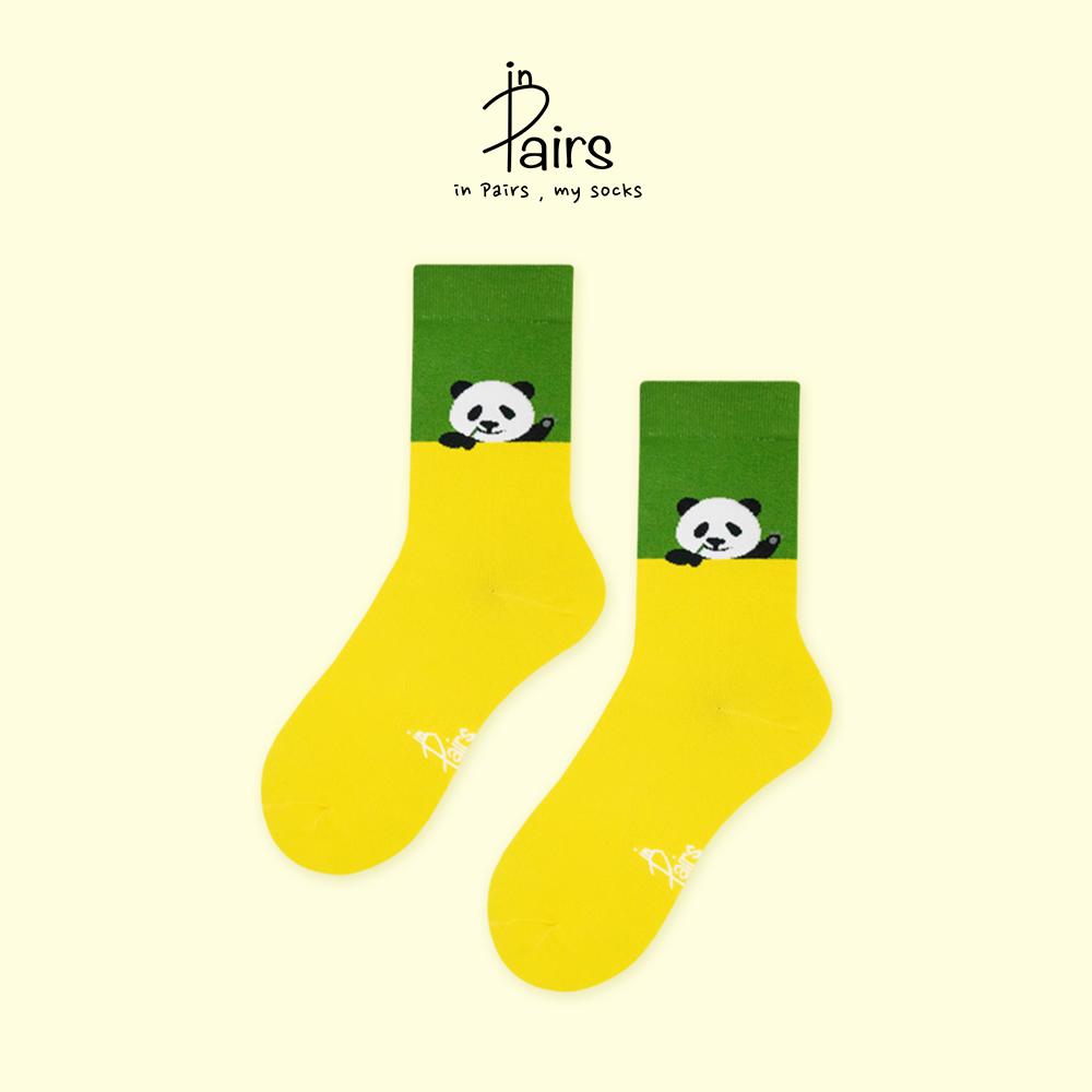 【in Pairs】Hello熊貓中筒襪-M 【康是美】