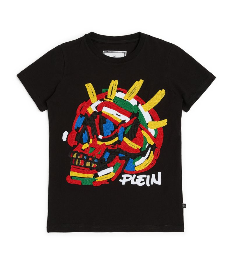 Philipp Plein Junior Embroidered Skull Logo T-Shirt (4-16 Years)