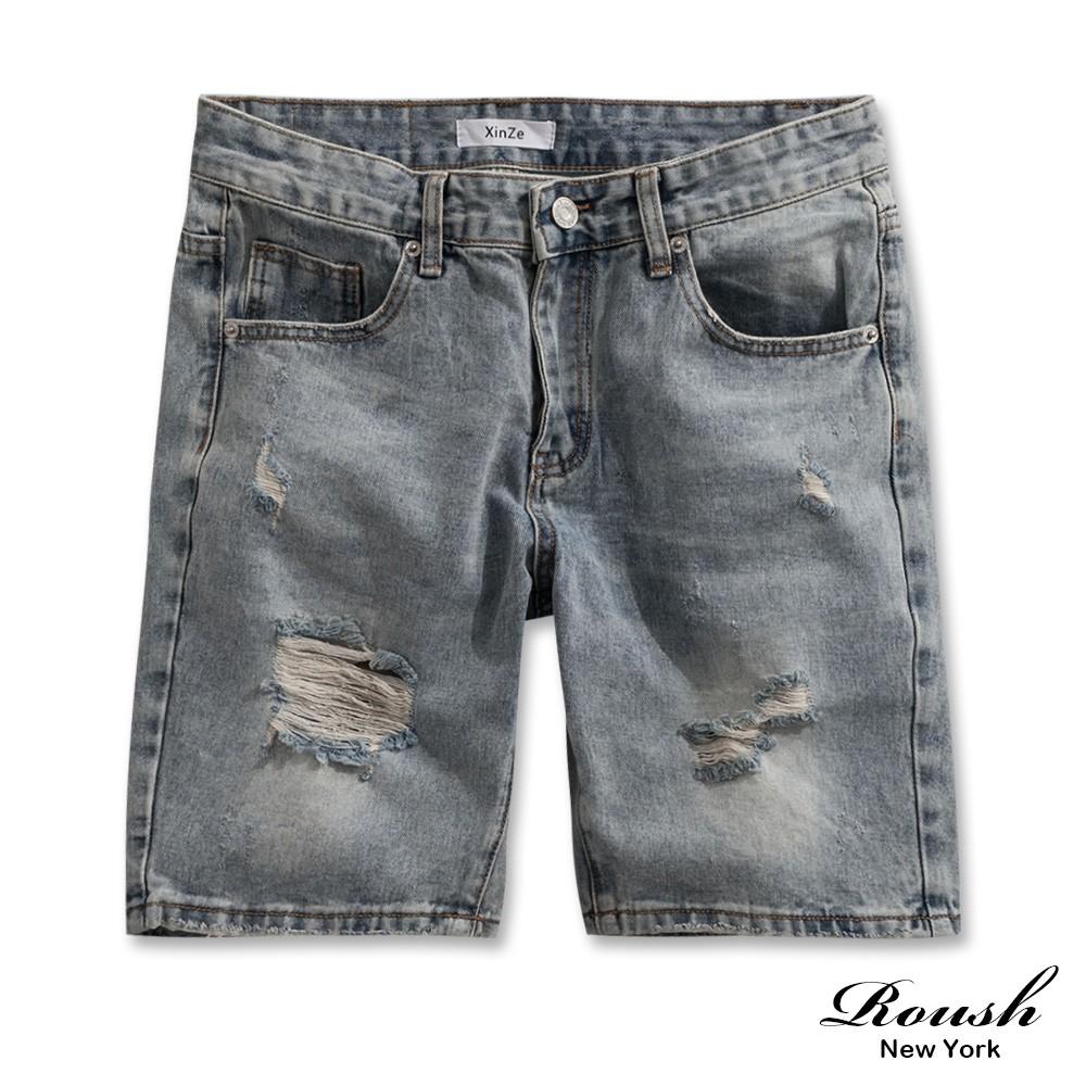 Roush - 經典破壞感水洗牛仔短褲【2122】