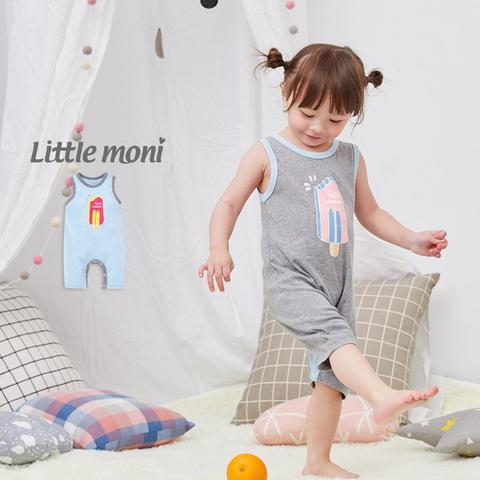 Little moni 家居系列背心連身裝(亮天藍)