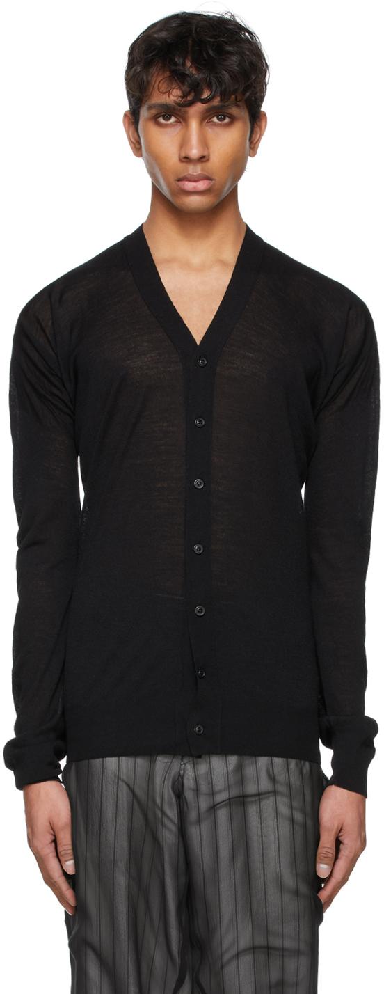 Maison Margiela 黑色 Y 领开衫