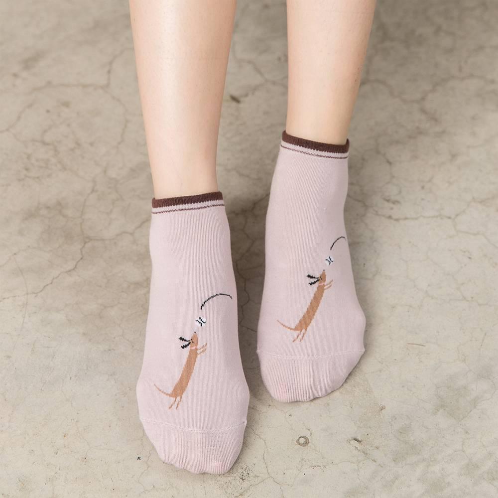 貝柔毛小孩萊卡船型襪-調皮狗(1雙) 【康是美】