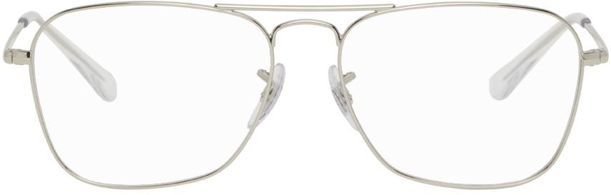 Ray-Ban 银色 Caravan II 眼镜