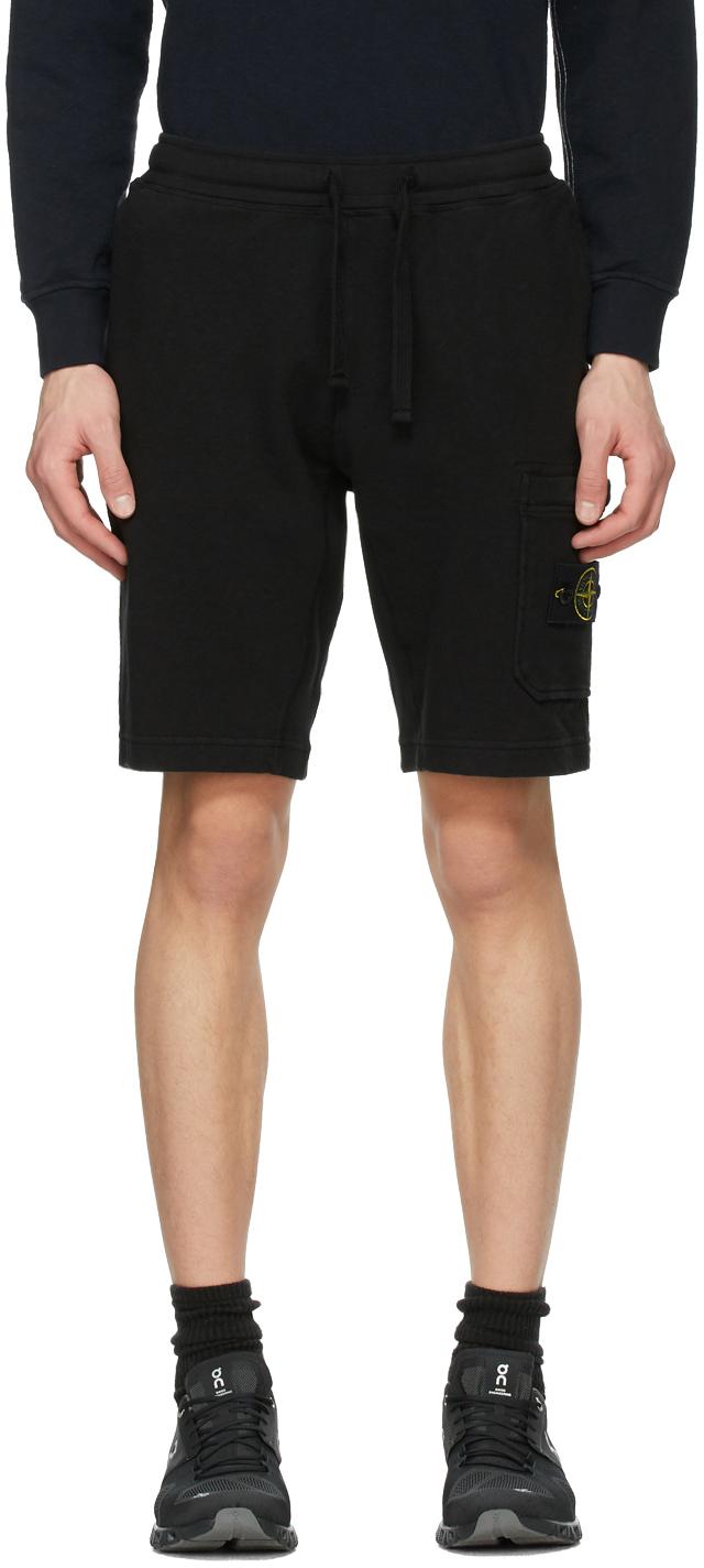 Stone Island 黑色百慕大短裤