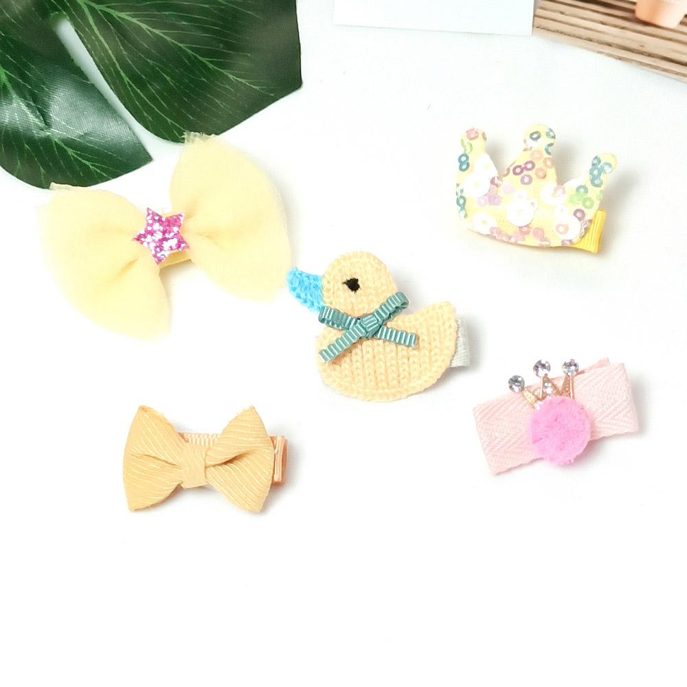 韓系安全髮夾 禮盒五件組 保護寶貝細嫩肌膚 黃小鴨皇冠【CH003A2203】