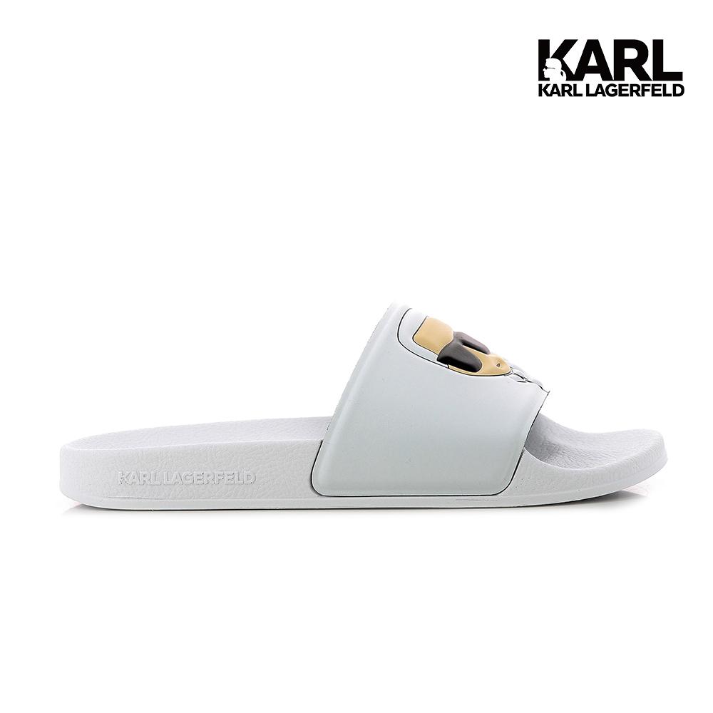 【KARL LAGERFELD】KONDO II IKONIK拖鞋-白  (原廠公司貨)