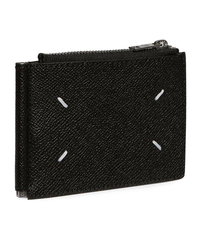 Maison Margiela Leather Stitches Money Clip Wallet