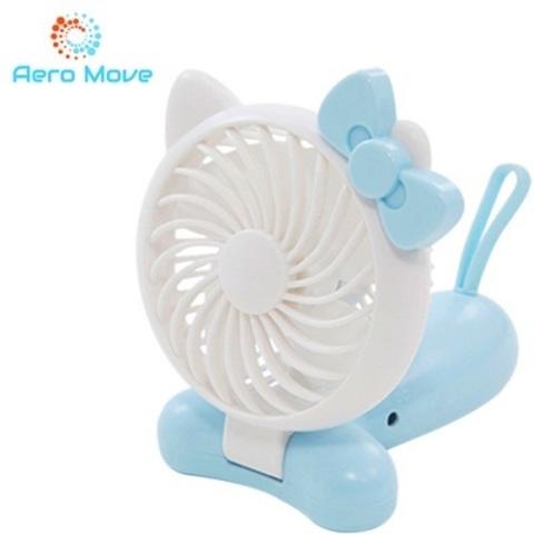 Aero Move 可愛萌貓造型隨身折疊風扇(藍色)