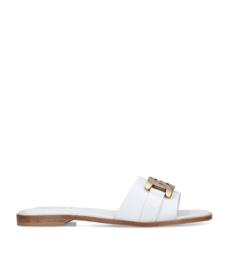 Tod'S Leather Catena Slides