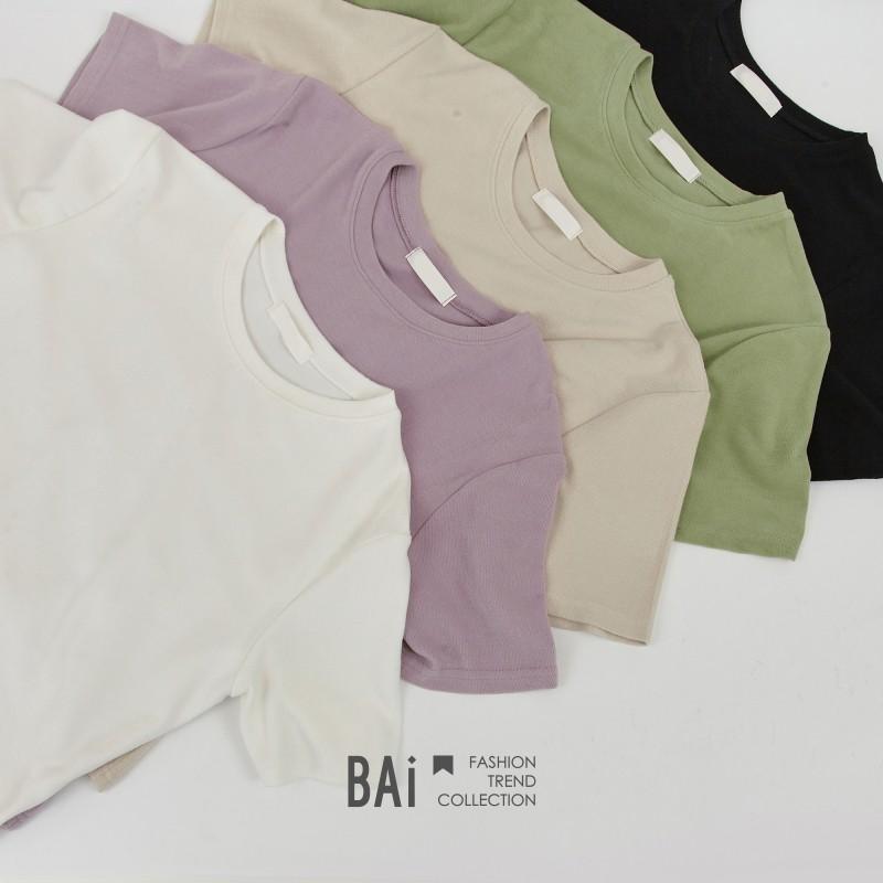 微厚親膚柔軟純色短袖T恤上衣-BAi白媽媽【310203】
