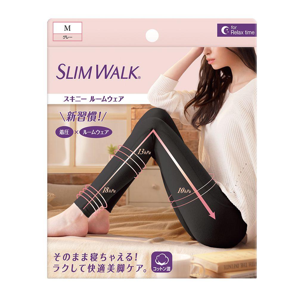 SLIMWALK居家美腿壓力褲(黑色)M 【康是美】