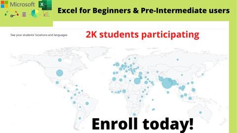 Microsoft Excel for Beginners & Pre-intermediate users