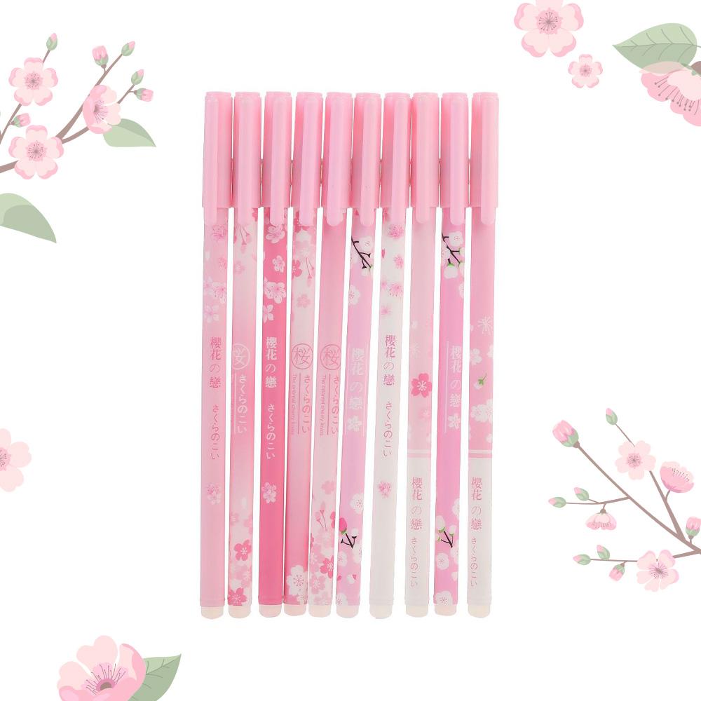 日系櫻花擦擦筆 多款圖案 滑順好寫 0.5mm水性筆 粉紅櫻花 可擦中性筆 可擦筆 原子筆 藍筆 擦擦筆 文具用品 辦公文具