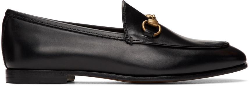 Gucci 黑色 Jordaan 乐福鞋